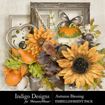 Autumn Blessing Embellishment Pack-$2.80 (Indigo Designs)