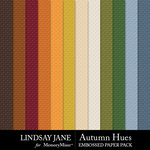 Autumn Hues Embossed Paper Pack-$2.49 (Lindsay Jane)