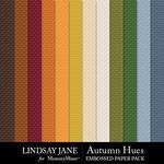 Autumn Hues Embossed Paper Pack-$2.49 (Lindsay Jane)