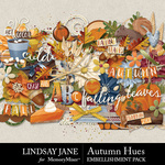 Autumn Hues Embellishment Pack-$3.49 (Lindsay Jane)