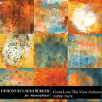 Gotta Love The View Autumn Artsy Papers-$4.99 (Laura Burger)
