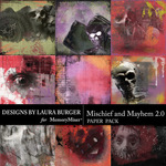 Mischief and Mayhem Artsy Paper Pack-$4.99 (Laura Burger)