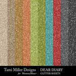 Dear Diary Glitter Sheets Pack-$3.99 (Tami Miller)