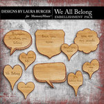 We All Belong Specialty Woods Pack-$4.99 (Laura Burger)