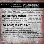 We All Belong WordArt Pack-$4.99 (Laura Burger)