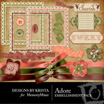 Adore Embellishment Pack-$3.00 (Designs by Krista)