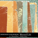 Blessed Life Torn Paper Pack-$4.99 (Laura Burger)