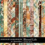 Blessed Life Grunge Paper Pack-$4.99 (Laura Burger)
