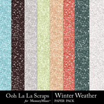 Winter weather glitter papers small