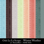 Winter Weather Pattern Paper Pack-$2.49 (Ooh La La Scraps)