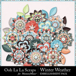 Winter Weather Flowers Pack-$2.49 (Ooh La La Scraps)