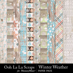 Winter Weather Worn Wood Papers-$2.49 (Ooh La La Scraps)