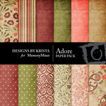 Adore Paper Pack-$4.00 (Designs by Krista)