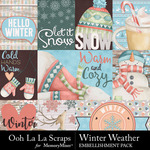 Winter Weather Pocket Scrap Cards-$2.49 (Ooh La La Scraps)
