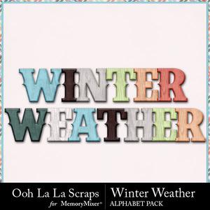 Winter weather alphabets medium