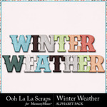 Winter weather alphabets small