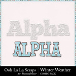 Winter weather kit alphabets small