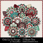 I Heart You OLL Flowers Pack-$2.49 (Ooh La La Scraps)