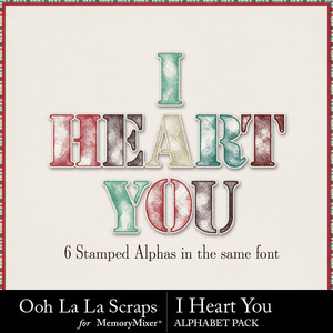 I heart you alphabets medium