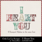 I Heart You OLL Alphabet Pack-$3.49 (Ooh La La Scraps)