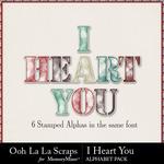 I heart you alphabets small