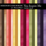 You Inspire Me Solid Paper Pack-$3.99 (Laura Burger)