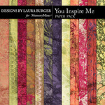 You Inspire Me Grunge Paper Pack-$4.99 (Laura Burger)