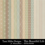 This Beautiful Life Extra Paper Pack-$2.99 (Tami Miller)