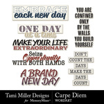 Carpe Diem WordArt Pack-$2.99 (Tami Miller)