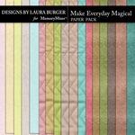 Make Everything Magical Solid Paper Pack-$3.99 (Laura Burger)