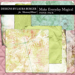 Make Everything Magical Worn Paper Pack-$5.99 (Laura Burger)
