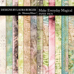 Make Everything Magical Artsy Paper Pack-$4.99 (Laura Burger)