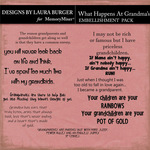 What Happens At Grandmas WordArt Pack-$3.50 (Laura Burger)