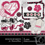 Love Embellishment Pack-$3.00 (Designs by Krista)