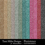 Persistence Glitter Sheets Paper Pack-$3.99 (Tami Miller)