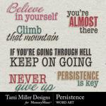 Persistence WordArt Pack-$2.99 (Tami Miller)