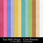 Cutie Patootie Solid Paper Pack-$3.50 (Tami Miller)