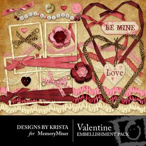 Valentine ebellishment medium