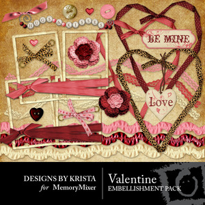 Valentine ebellishment medium