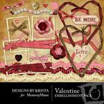 Valentine Embellishment Pack-$3.00 (Designs by Krista)