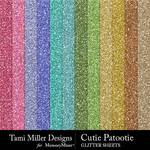 Cutie Patootie Glitter Sheets Pack-$2.80 (Tami Miller)