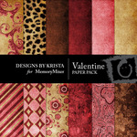 Valentine Paper Pack-$4.00 (Designs by Krista)