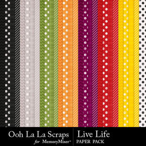 Live life pattern papers medium