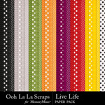 Live life pattern papers small