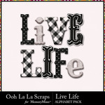 Live life alphabets small