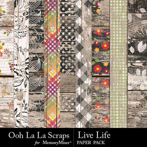 Live life worn wood papers medium