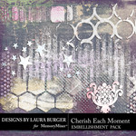 Cherish Each Moment Gesso Bits-$4.99 (Laura Burger)