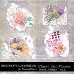 Cherish Each Moment Gesso Scatters-$4.99 (Laura Burger)