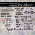 Cherish Each Moment Word Art-$4.99 (Laura Burger)