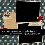 Old Glory QuickMix Square-$3.49 (Lasting Impressions)